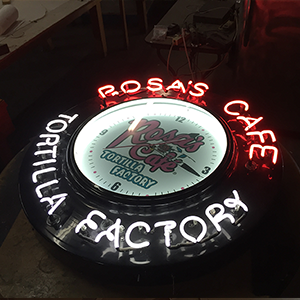 Neon Sign-Rosa's Cafe