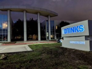 Monument Lighted Sign Brinks