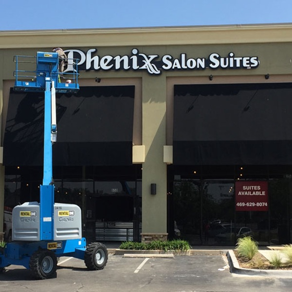 Channel Letters Phenix Salon