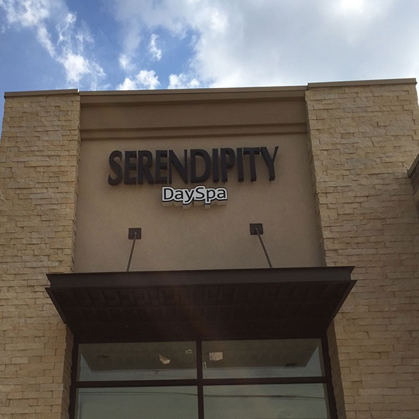 Channel Letters Serendipity Day Spa