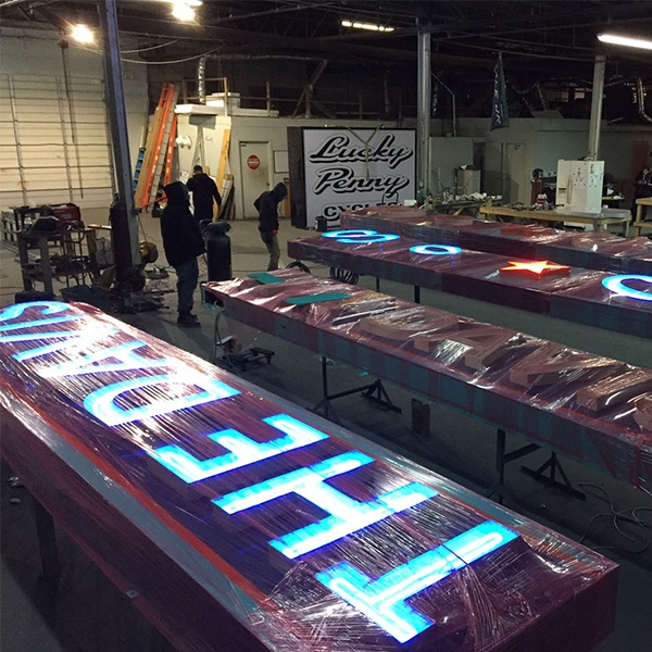 Lighted Signs Production